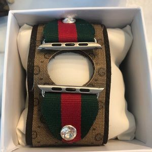 Gucci repolstered Apple Watch band.